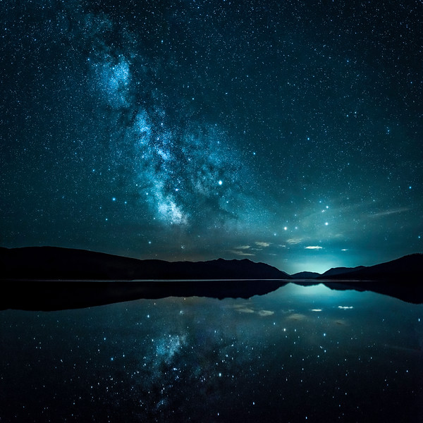 Milky Way over Lake McDonald - Glacier National Park