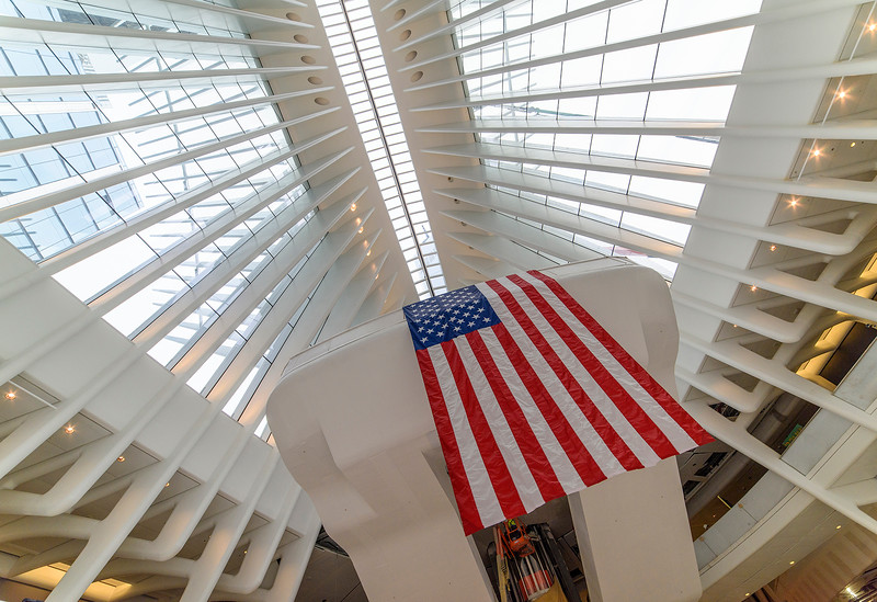 Oculus Ceiling With American Flag