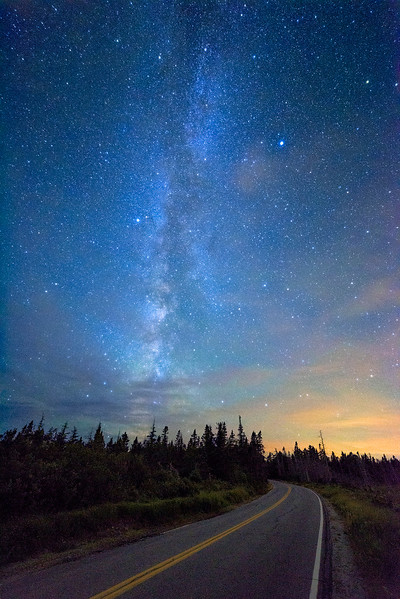 Milky Way Over Seawall Road