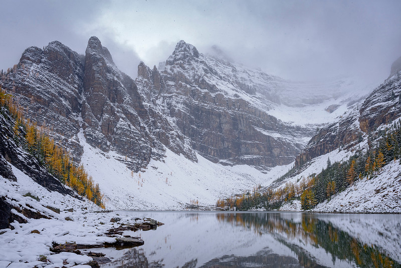 Lake Agnes and Mount whyte
