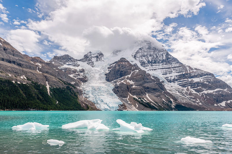 Icebergs and Mount Robson