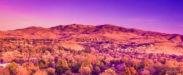 Boise Front Range Sunset