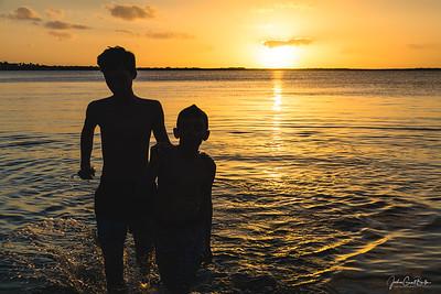 Sunset at Key Largo's Blackwater Sound