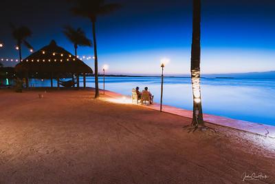 Blue phase sunset at Key Largo Marriot Resort