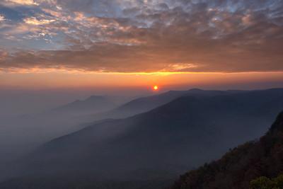 Sunset and Smoke 1