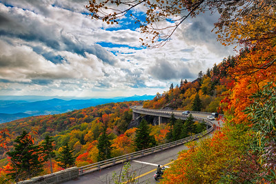 Fall on the Linn Cove Viaduct 10-16-2016