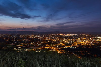 iPad edit of Roanoke Nightscape