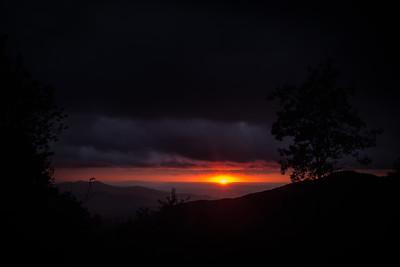 Sunset at Unicoi Gap 10-8-2016