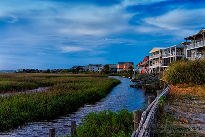 Bordering Bird Island, NC