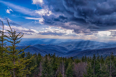 Clingmans Dome looking toward Fontana