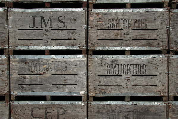Old Produce Packing Crates with Names