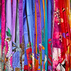 Colorful Scarves In Shop