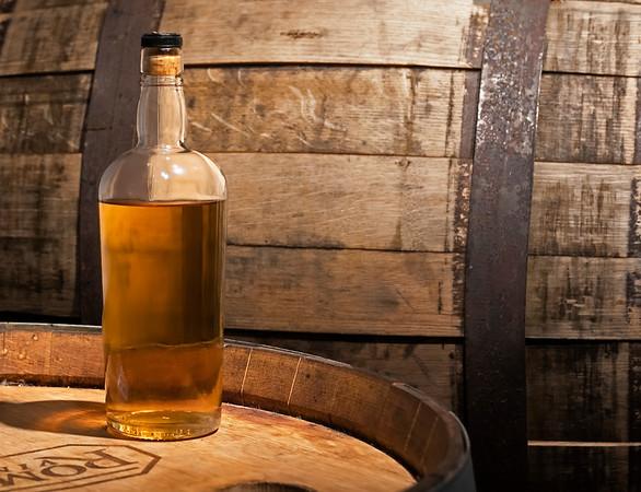 Irish Whiskey Bottle and Barrel