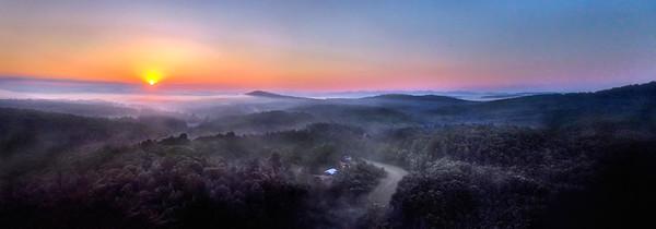 Sunrise in Blue Ridge Panorama