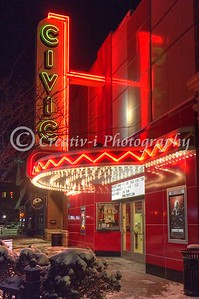 Farmington Civic Theater Night View #01