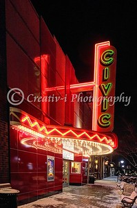 Farmington Civic Theater Night View #05