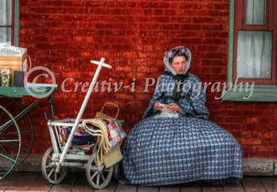 Antebellum Portrait- Woman at Train Station