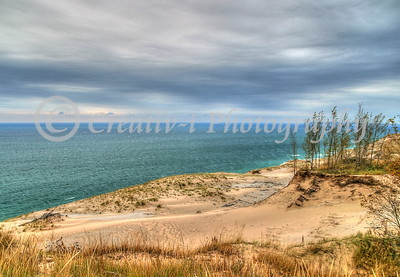 Dunes Overlook, South Manitiou Island in Distance- Sleeping Bear Dunes National Lakeshore-22