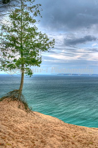 Dunes Overlook, South Manitiou Island in Distance- Sleeping Bear Dunes National Lakeshore-23