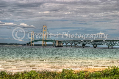 Mackinac Bridge West View #12