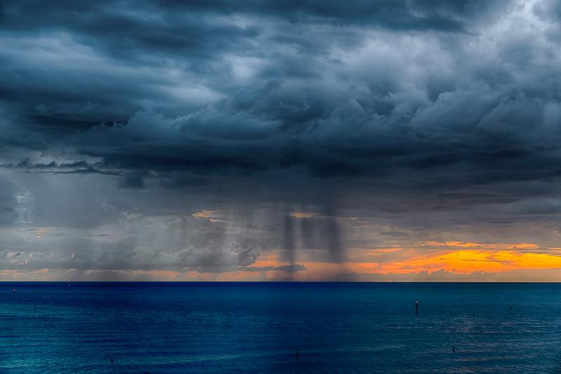Sunset Storm off John's Pass