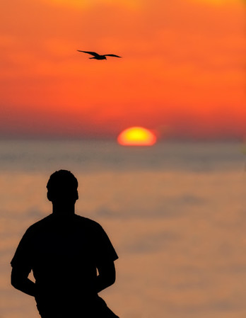 Sunset view at Sunset Beach on Treasure Island
