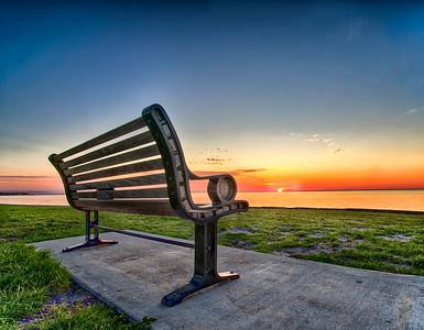 Vinoy Bench Sunrise
