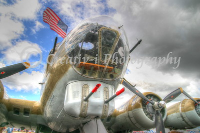 B-17- Nose Guns- Willow Run Air Show #2