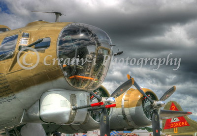 B-17- Nose Guns- Willow Run Air Show #1