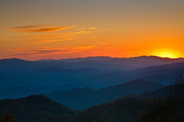 Smoky Mountain Sun Set