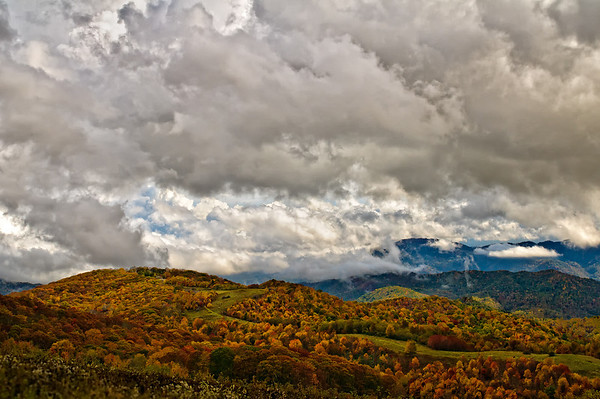 Storm over Max Patch Mountain