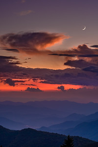 Moon of the Blue Ridge Mountains