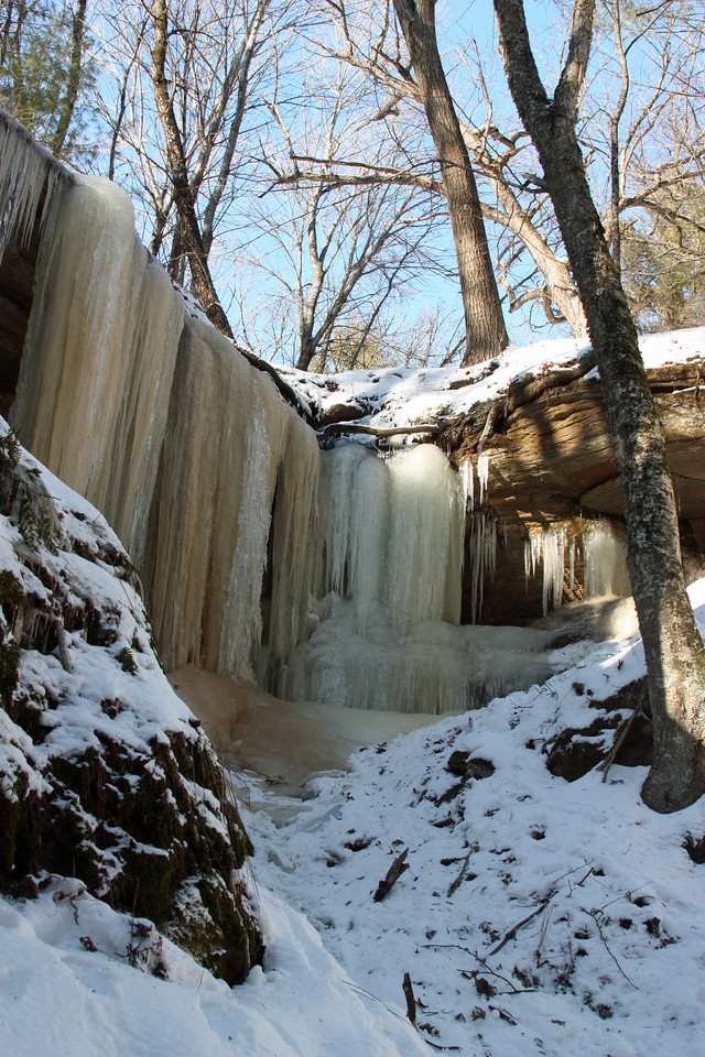 Ice Falls at Fern Dell Gorge, Mirror Lake, Wi