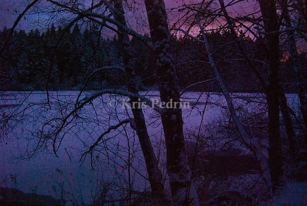 Fisher Pond at Dusk, Vashon Washington