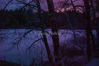 Fisher Pond at Dusk, Vashon Washington