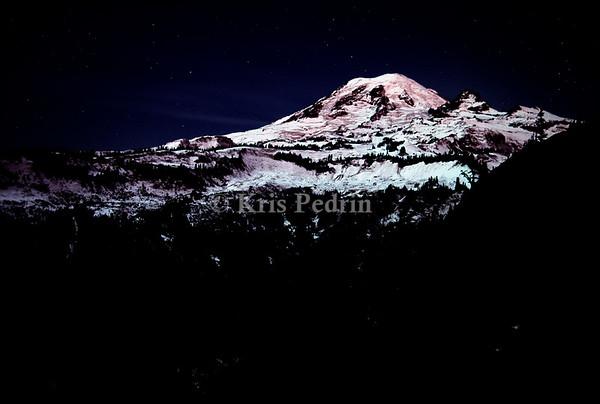 Moonlight on Mount Rainier, Washington