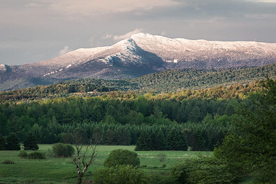 Snowcapped Mansfield in May
