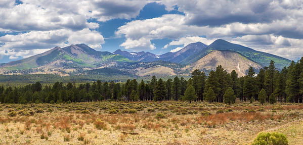 Summer Clouds Drifting Over the San Francisco Peaks
