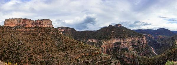 Descending Clouds Over The Salt River Canyon