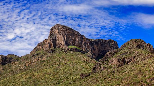 Summer Green on Picacho Peak