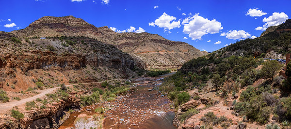 The Salt River at the Bottom of the Canyon