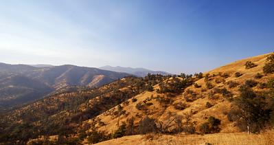 Hazy California Foothills