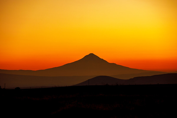 Mt. Hood In a Hazy Sunset Mood