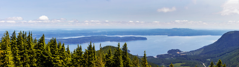 Puget Sound as Seen From Mt. Walker Viewpoint