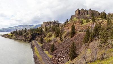 Train Tracks Along the Gorge