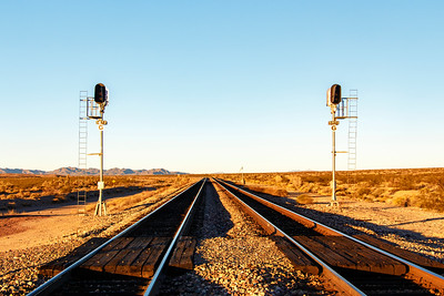 Morning On the Mojave Rails