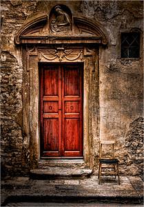 San Gimignano Door and Chair 1c