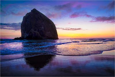 Haystack Sunset 1
