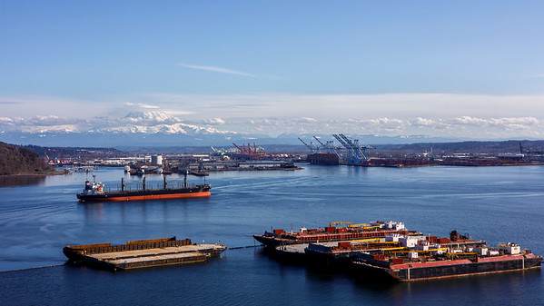 Port of Tacoma (And Some Volcano)