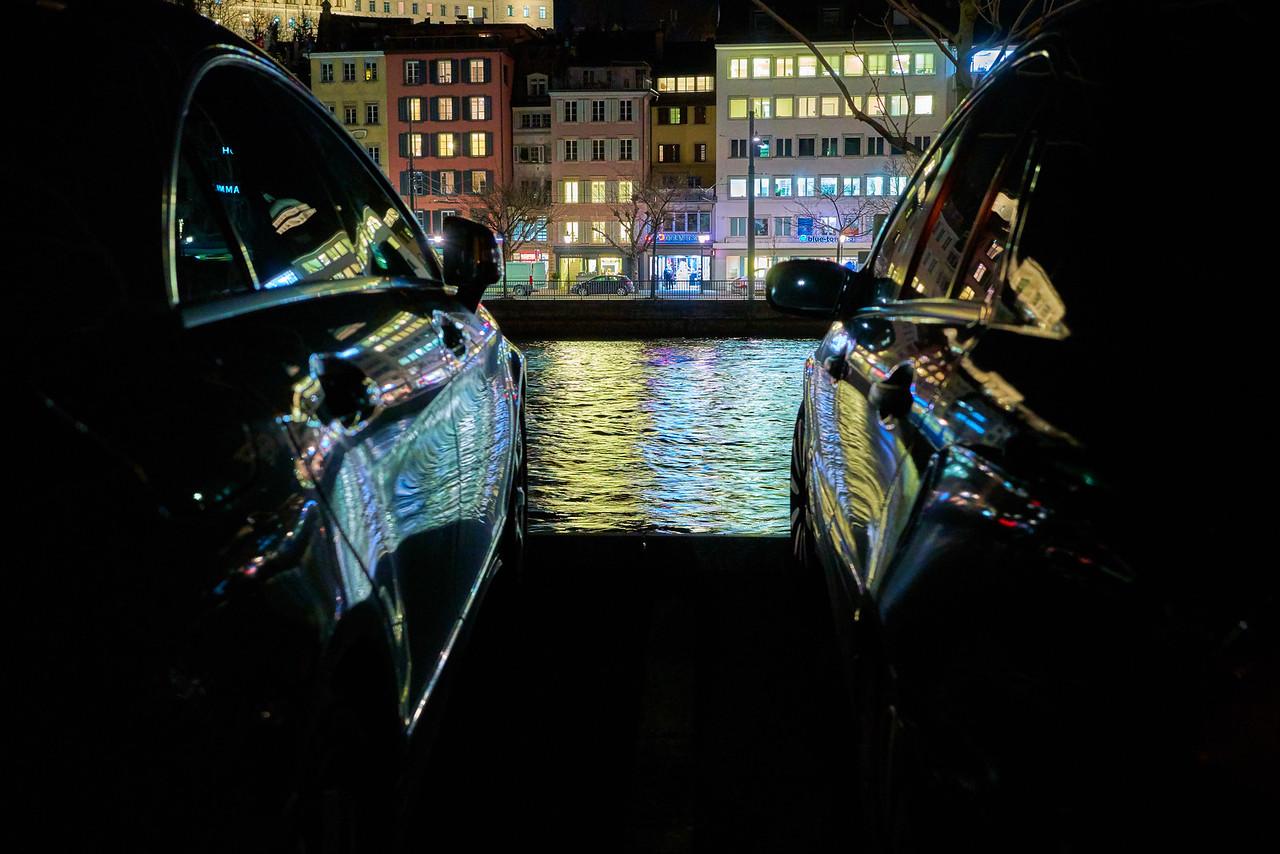 Zurich's Night Reflections